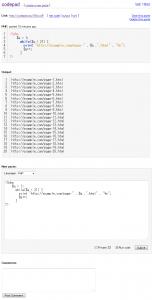 PHP code - 7 lines - codepad